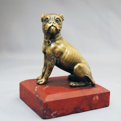 Bronze paper Weight English Bull Dog