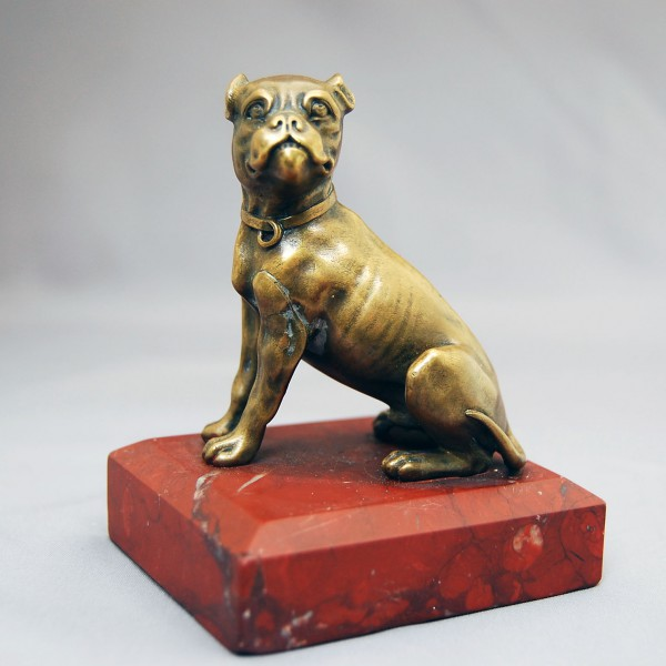Bronze paper Weight English Bull Dog