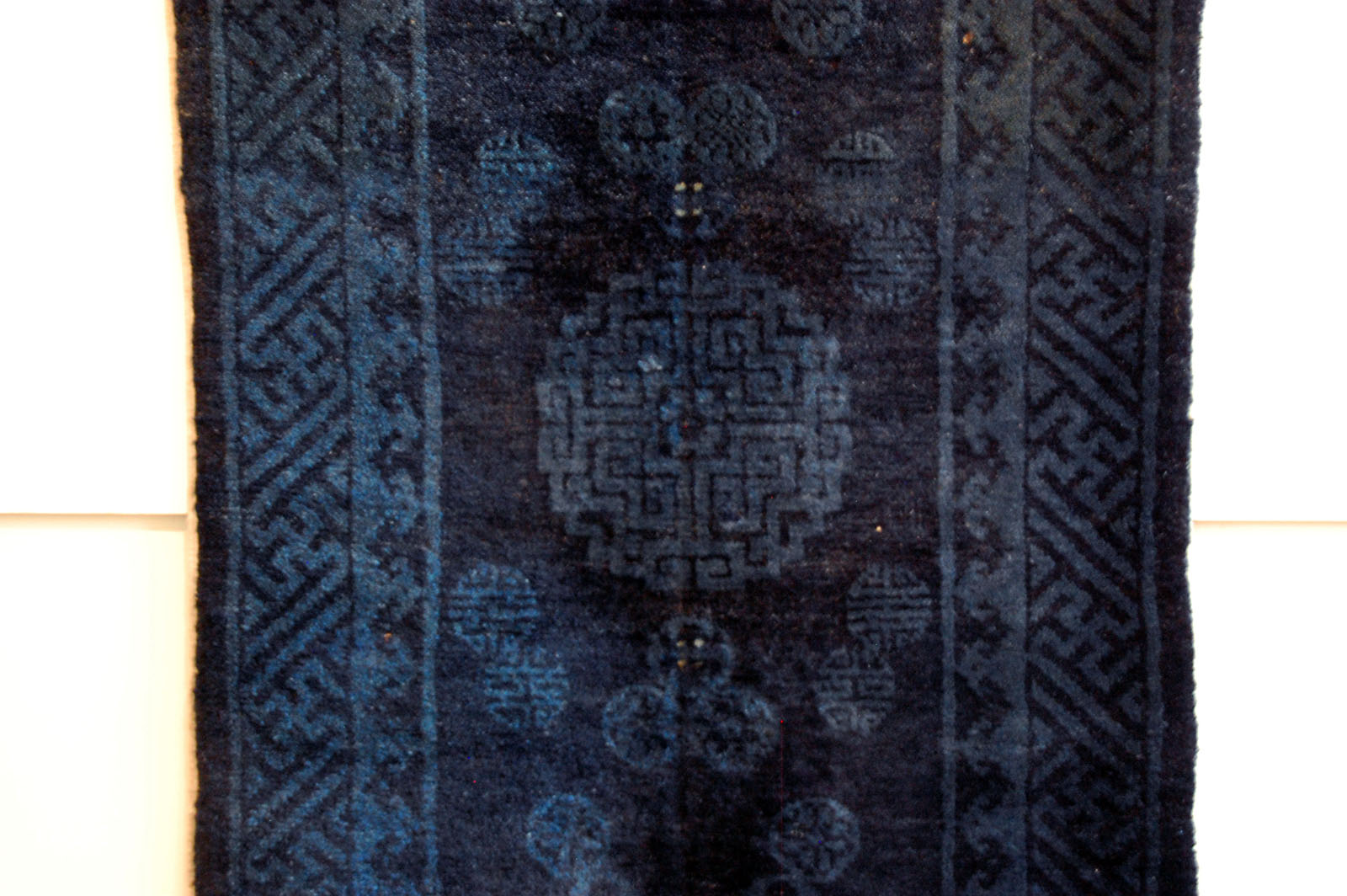 shop antique carpet shou rug medallion chinese asian blue indigo art peking oriental rugs
