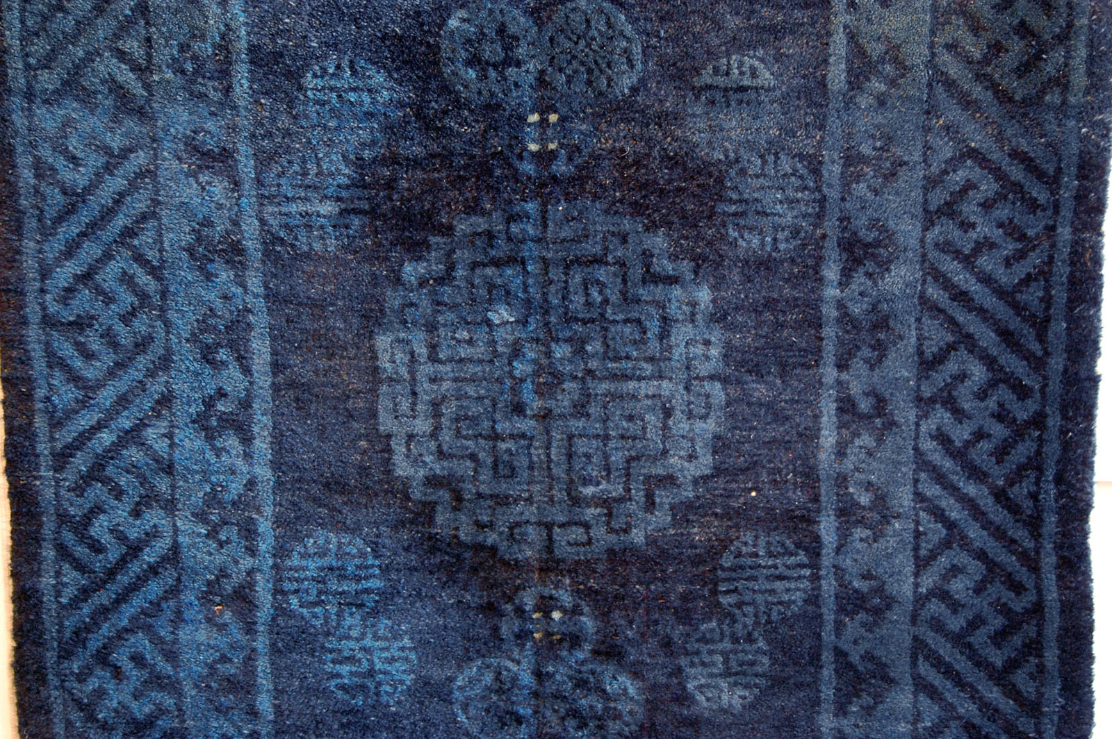 Oriental Chinese Peking Rug Antique Carpet Indigo Blue